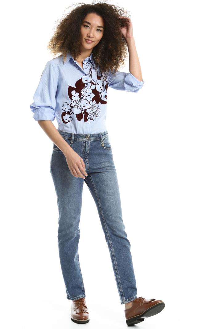 Camicia con stampa flock Fashion Market