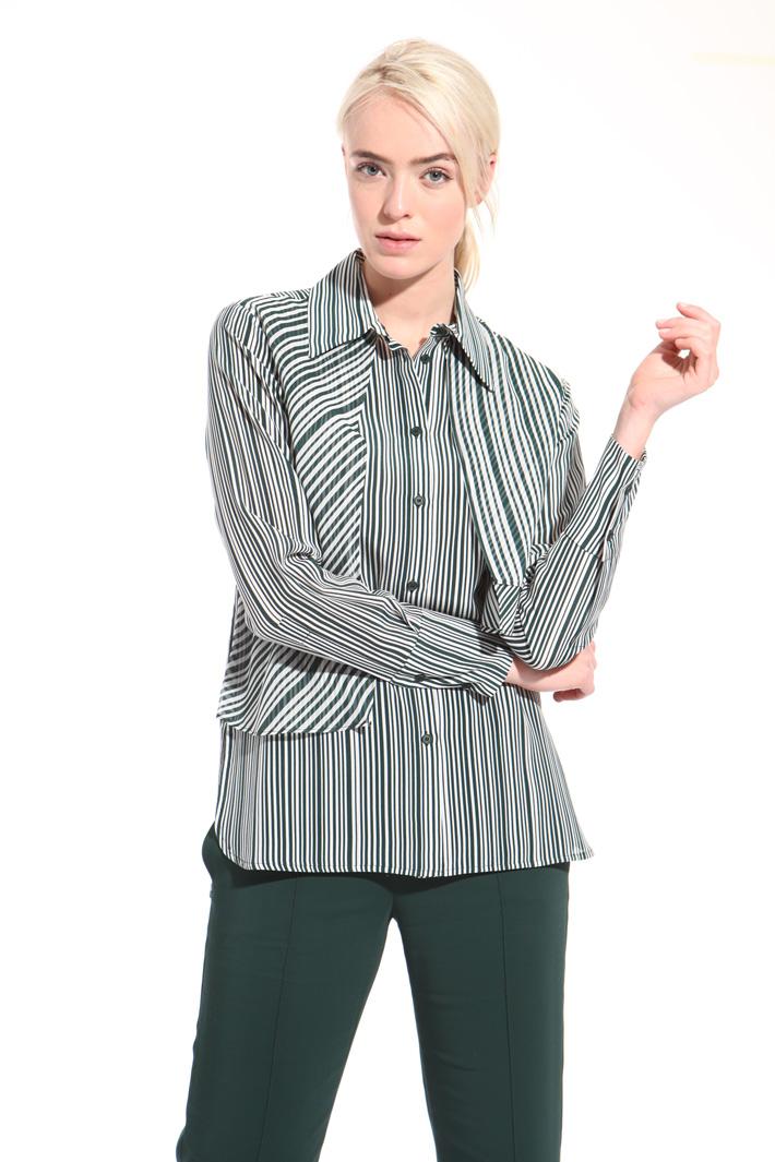 Camicia in crepe rigata Fashion Market