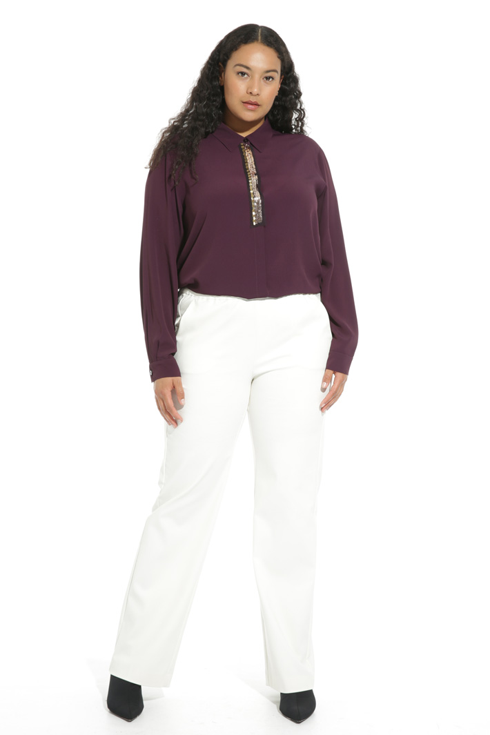Pantalone con cintone elastico Fashion Market