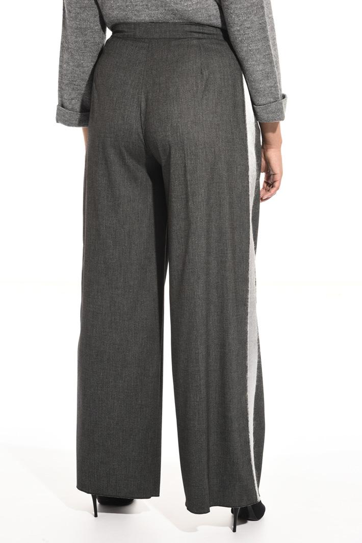 Pantaloni in lana jacquard Fashion Market