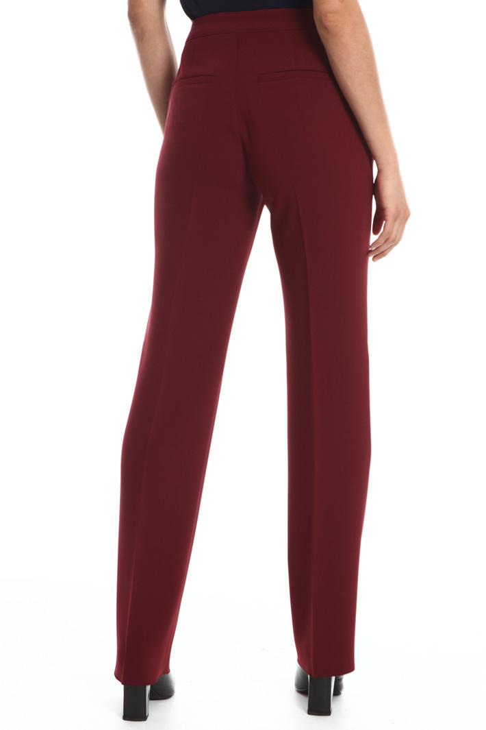 Pantalone dritto in triacetato Fashion Market