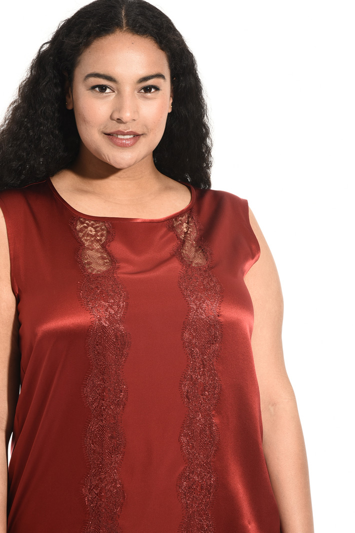 Top in raso di seta Fashion Market