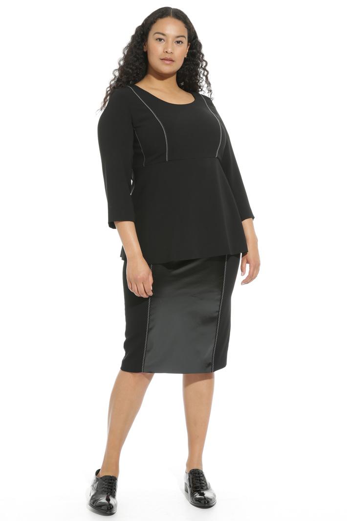 Casacca peplum in triacetato Fashion Market