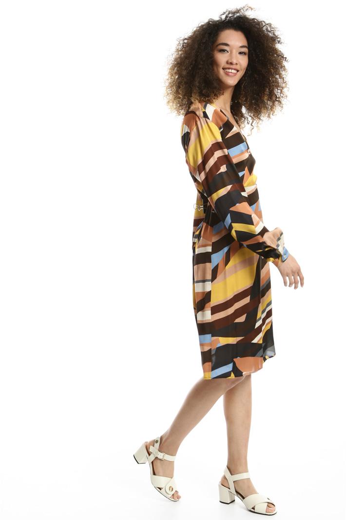 Abito in raso stampato Fashion Market