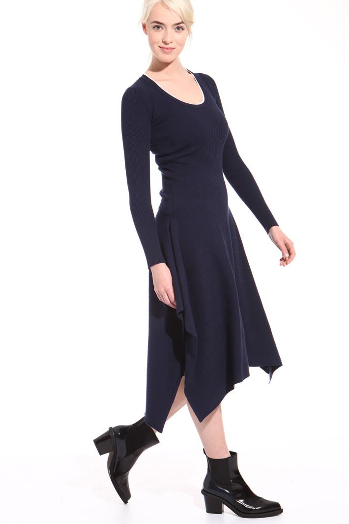 Abito asimmetrico in maglia Fashion Market