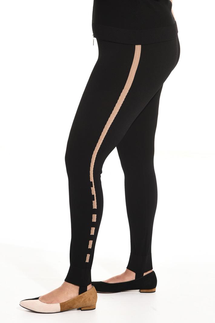 Leggings in viscosa crêpe Fashion Market