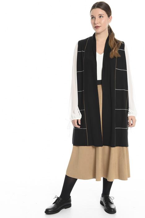 Gilet in misto lana jacquard Fashion Market
