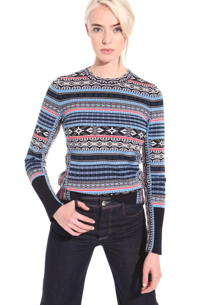 Maglia a motivi geometrici Fashion Market