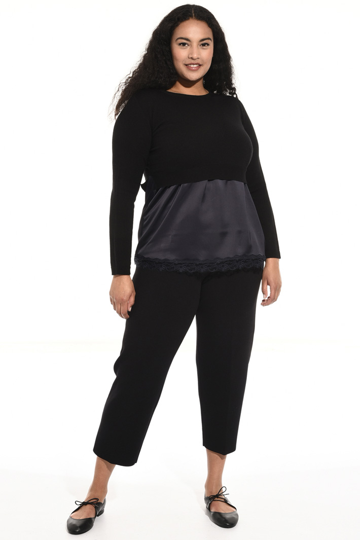 Maglia cropped in lana Fashion Market