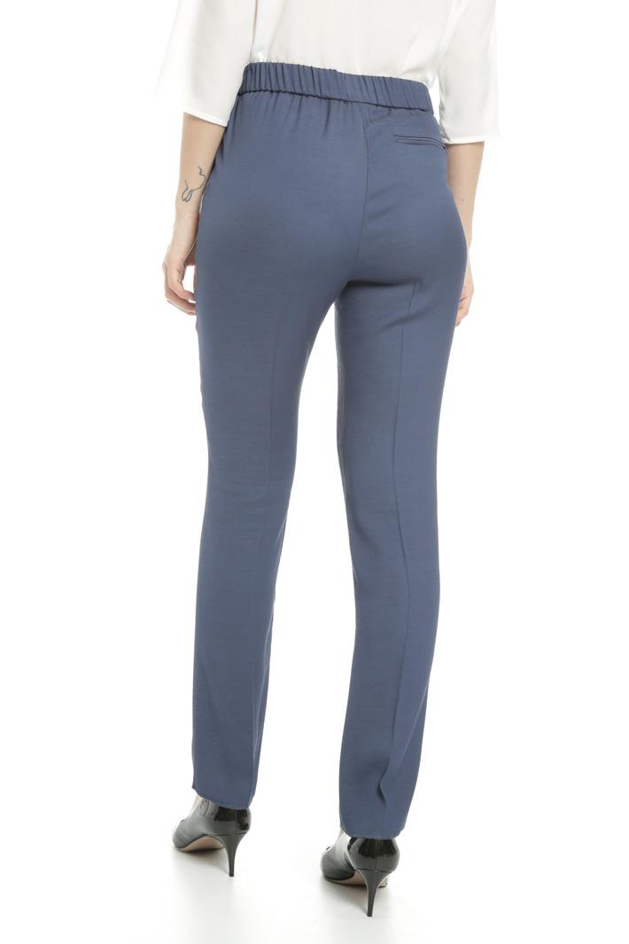 Pantalone in twill di viscosa Fashion Market