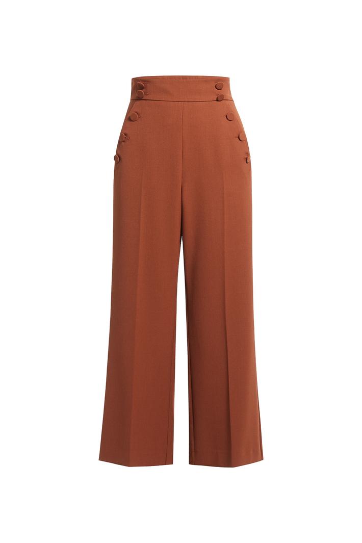 Pantalone con bottoni rivestiti Fashion Market