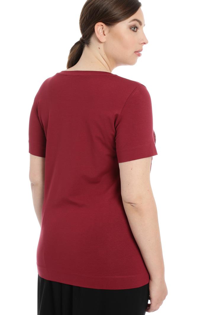 T-shirt in jersey con ricamo Fashion Market