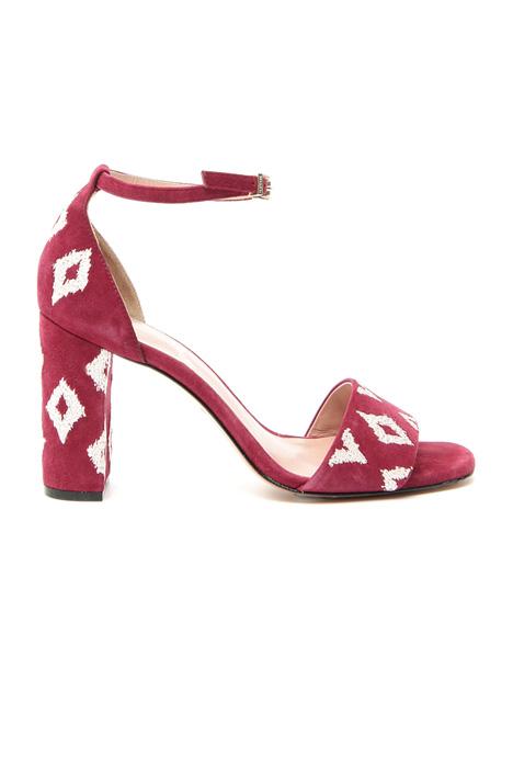Sandalo in pelle ricamato Fashion Market