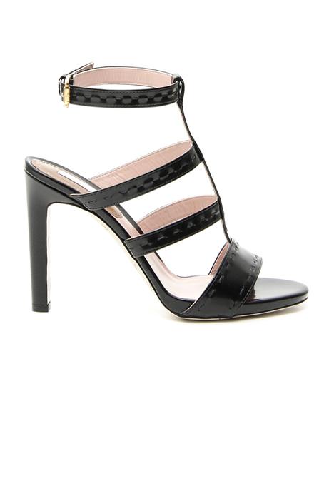 Sandalo alto con impunture Fashion Market