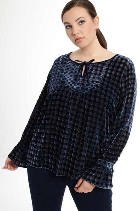 Blusa in velluto devoré Fashion Market