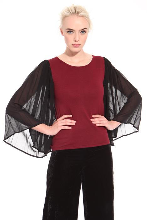 Maglia con maniche plissé Fashion Market