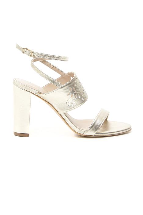 Sandalo in pelle laserata Fashion Market