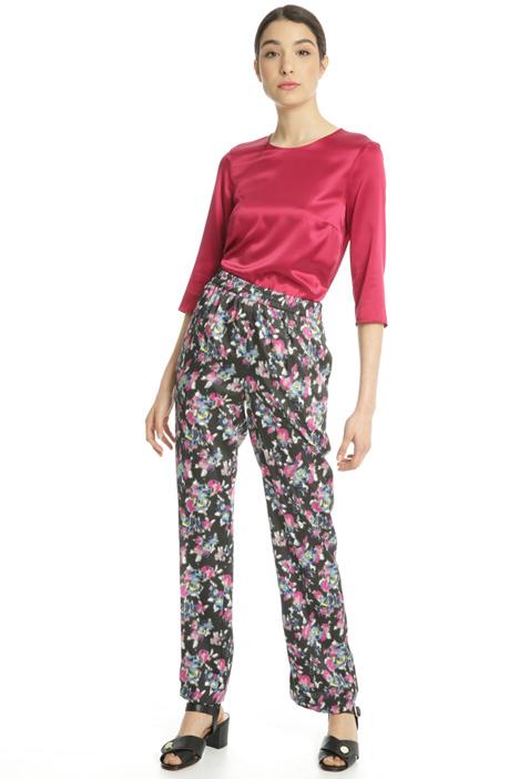 Pantalone in twill stampato Fashion Market