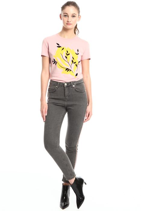 Jeans con inserto in raso Fashion Market