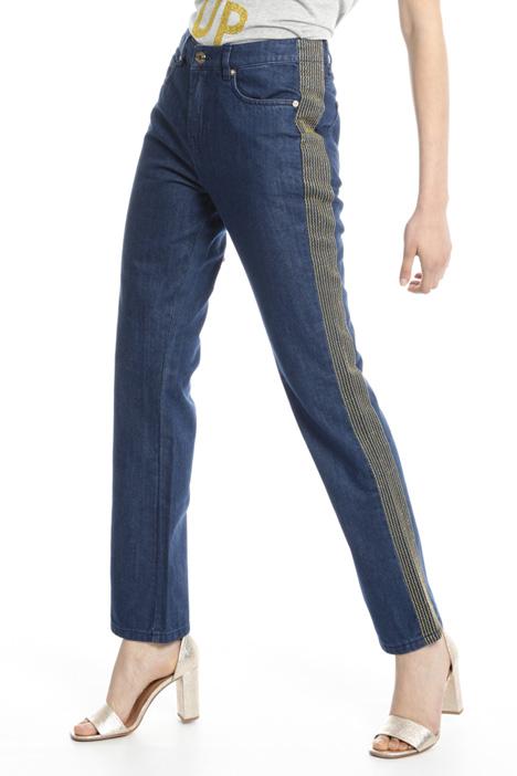 Jeans con ricami lamé Fashion Market