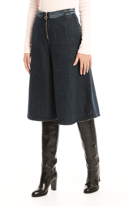 Jeans culotte in denim Fashion Market