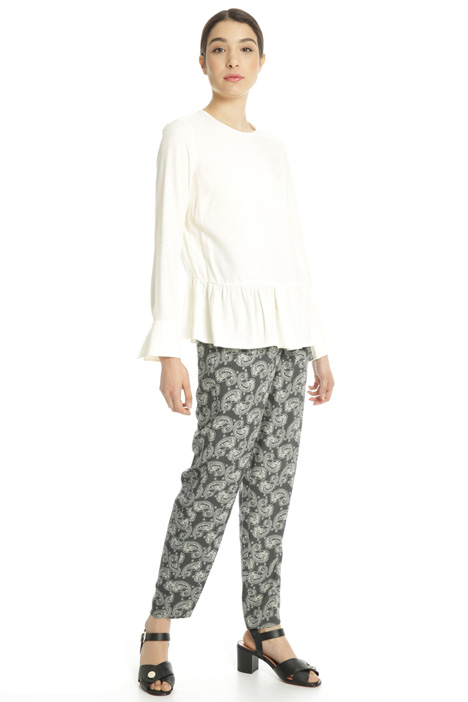 Blusa in viscosa con balza Fashion Market