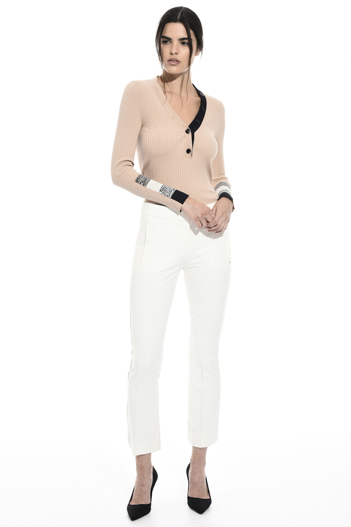 Pantalone regular in viscosa Fashion Market