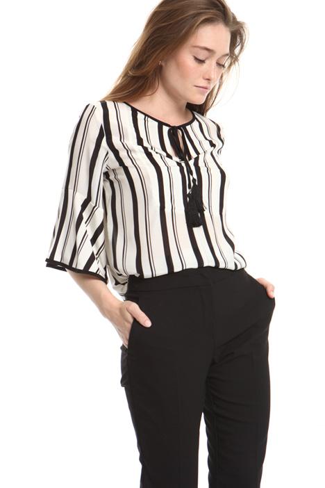 Blusa in seta e jersey Fashion Market