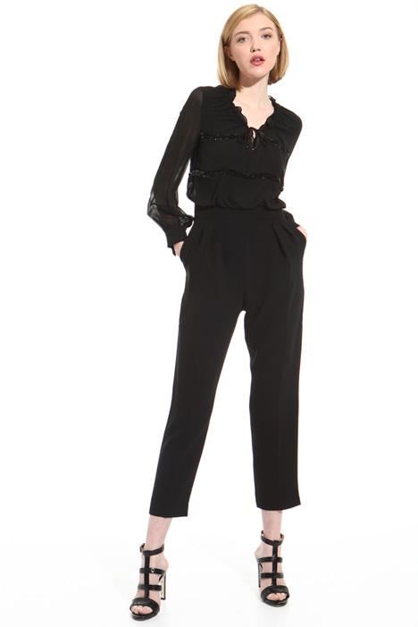 Tuta in seta e triacetato Fashion Market