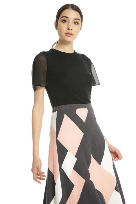 Maglia con maniche georgette Fashion Market