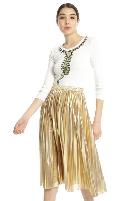 Maglia con ricamo paillettes Fashion Market